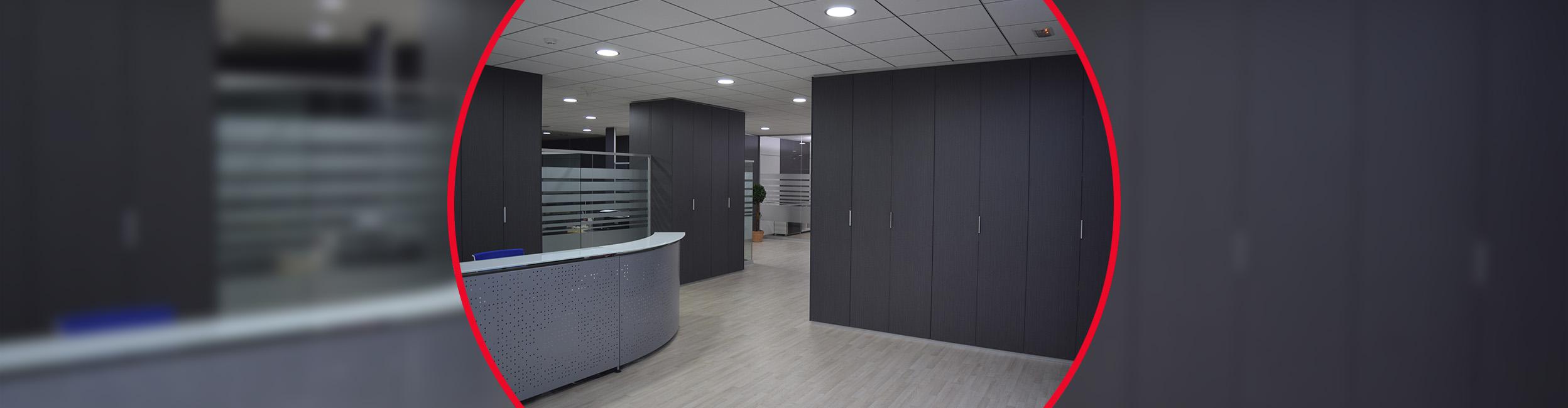 Tabiques para armarios de oficina en alicante murcia for Oficinas prop valencia